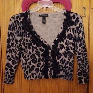 Crop Animal print sweater
